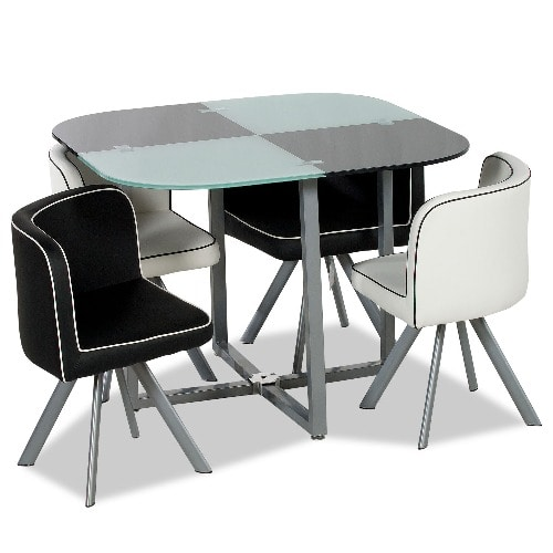 Classic 4-Seater Glass Dining Set