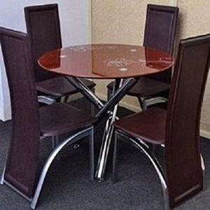 Round Glass Dining Set
