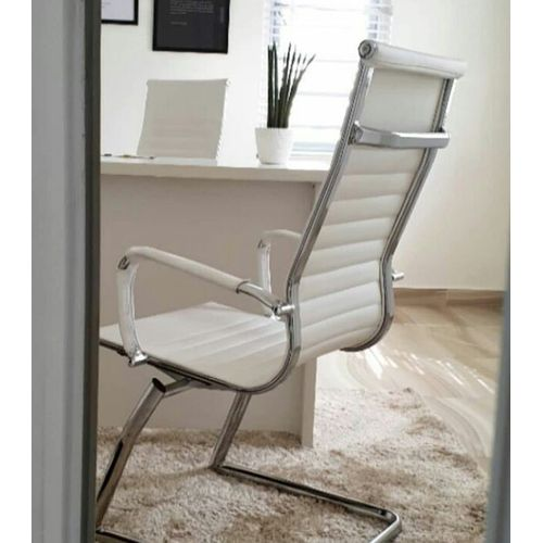 White Executive Visitor Chair